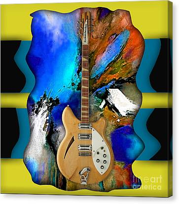 Rickenbacker Guitar Collection Canvas Print by Marvin Blaine