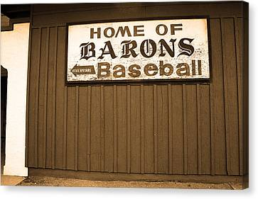 Negro Leagues Canvas Print - Rickwood Field by Frank Romeo