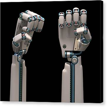 Robotic Hand Canvas Print by Ktsdesign