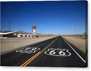 Route 66 Shield Canvas Print by Frank Romeo