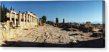 Ruins Of The Roman Town Of Hierapolis Canvas Print by Panoramic Images