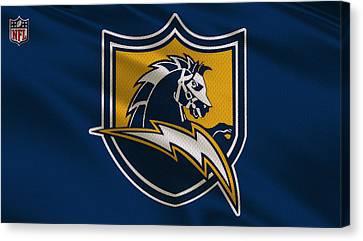 San Diego Chargers Uniform Canvas Print by Joe Hamilton