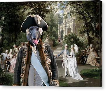 Scottish Deerhound Art Canvas Print Canvas Print by Sandra Sij