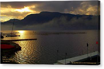 Canvas Print featuring the photograph Skaha Lake Sunset by Guy Hoffman