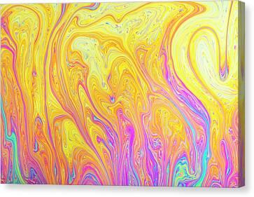 Soap Bubble Film Iridescence Canvas Print