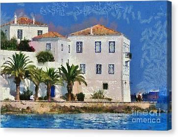 Spetses Island Canvas Print by George Atsametakis