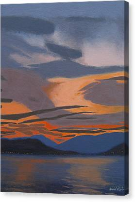 Sunset Fire Canvas Print