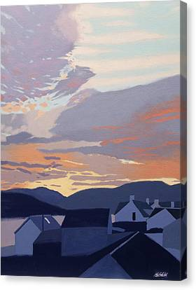 Sunset Over The Roofs Canvas Print