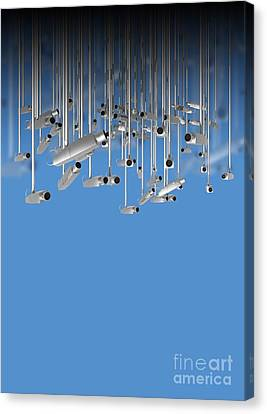 Surveillance, Conceptual Image Canvas Print