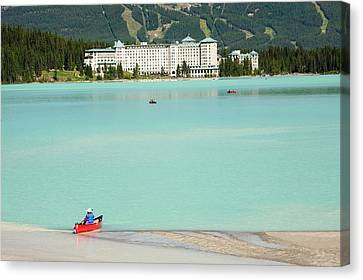 Tailings Pond At The Syncrude Mine Canvas Print by Ashley Cooper