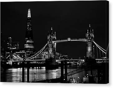 The Shard And Tower Bridge Canvas Print