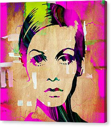 Twiggy Collection Canvas Print by Marvin Blaine