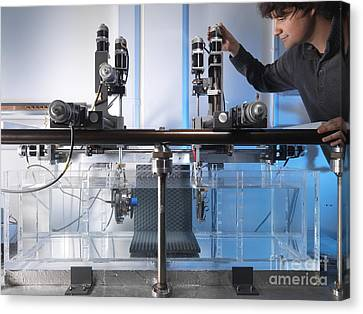 Ultrasound Beam Plotting Tests Canvas Print by Andrew Brookes, National Physical Laboratory