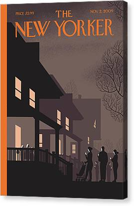 New Yorker November 2nd, 2009 Canvas Print by Chris Ware