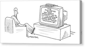 New Yorker December 5th, 2005 Canvas Print