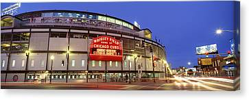 Gathering Canvas Print - Usa, Illinois, Chicago, Cubs, Baseball by Panoramic Images