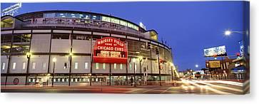 Usa, Illinois, Chicago, Cubs, Baseball Canvas Print