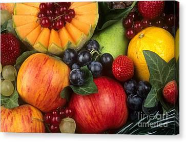 Vitamine Canvas Print - Variety Of Fruits. by Bernard Jaubert