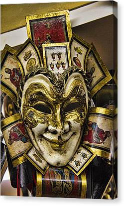 Venetian Carnaval Mask Canvas Print by David Smith