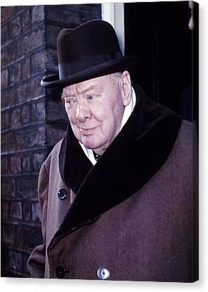 British Politicians Canvas Print - Winston Churchill by Retro Images Archive