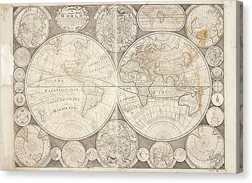 World Map Canvas Print by British Library
