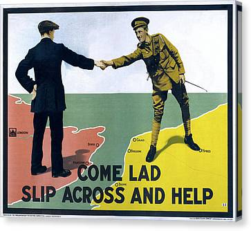Wwi Poster, 1915 Canvas Print by Granger