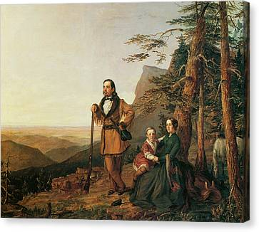 The Promised Land The Grayson Family Canvas Print by William Smith Jewett