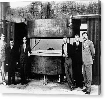60-inch Cyclotron And Nuclear Physicists Canvas Print by Us Department Of Energy