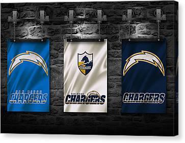 San Diego Chargers Canvas Print by Joe Hamilton