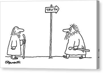 New Yorker April 24th, 2006 Canvas Print by Charles Barsotti