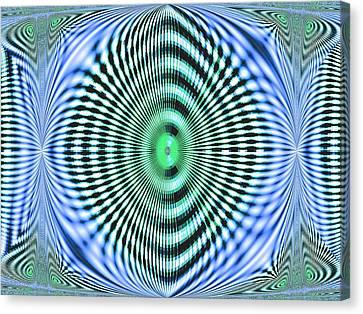 Canvas Print featuring the digital art 60s Time by Aliceann Carlton