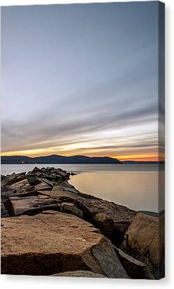 Canvas Print featuring the photograph 60secs Of Light by Anthony Fields