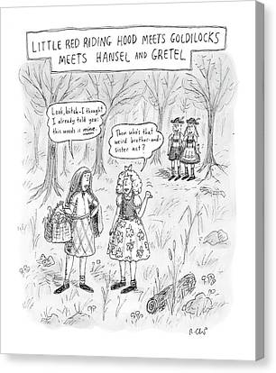 Goldilocks Canvas Print - New Yorker April 16th, 2007 by Roz Chast