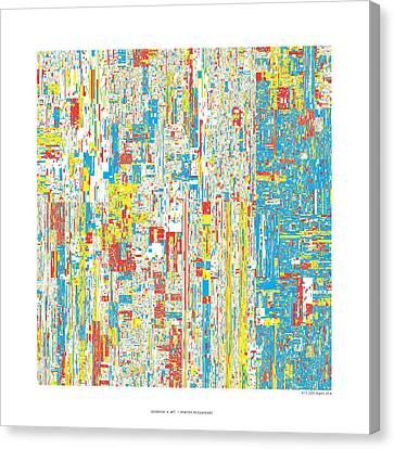 612330 Digits Of Pi Canvas Print by Martin Krzywinski