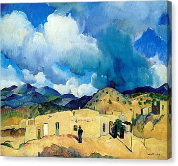 Santa Fe Hills Canvas Print by Leon Kroll