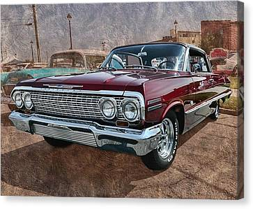 '63 Impala Canvas Print by Victor Montgomery