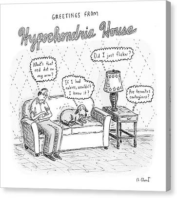 New Yorker December 24th, 2007 Canvas Print by Roz Chast