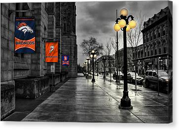 Player Canvas Print - Denver Broncos by Joe Hamilton