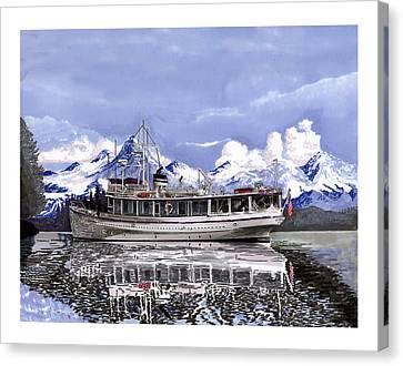 Alaska Yachting Canvas Print by Jack Pumphrey