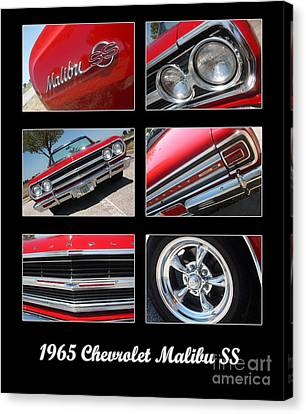 65 Malibu Ss Poster Canvas Print by Gary Gingrich Galleries