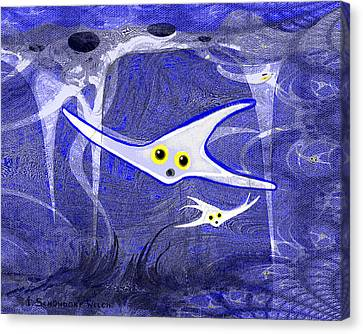 655 -   Under The Ocean Blue Canvas Print by Irmgard Schoendorf Welch