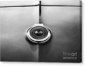 66 Corvette Gas Cap  Canvas Print by Tim Gainey