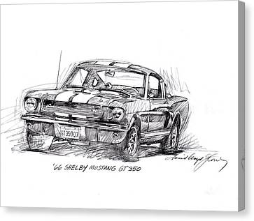 66 Shelby 350 Gt Canvas Print by David Lloyd Glover