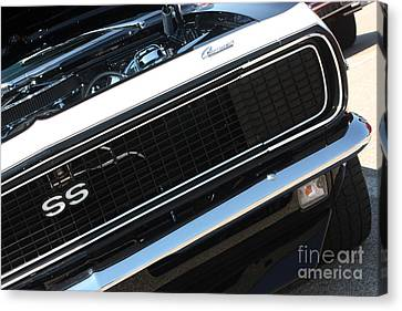 67 Black Camaro Ss Grill-8039-2 Canvas Print by Gary Gingrich Galleries