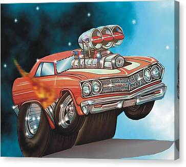 67 Chevelle Canvas Print by Christopher Fresquez