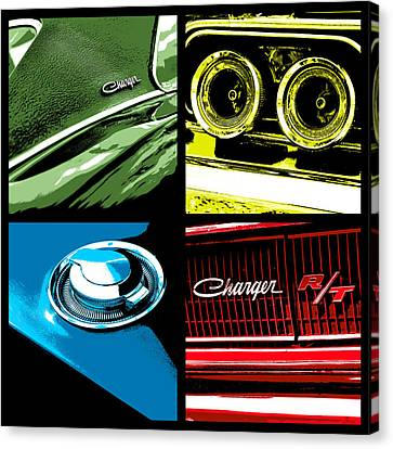'68 Charger R/t Canvas Print by Gordon Dean II