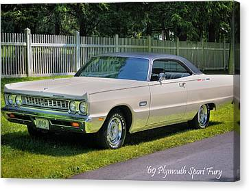 '69 Plymouth Sport Fury Canvas Print by Thomas Schoeller