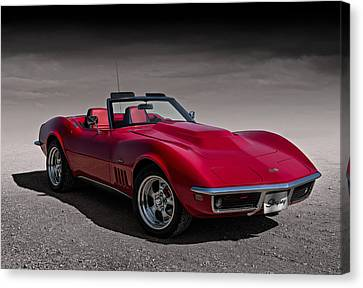 69 Red Stingray Canvas Print
