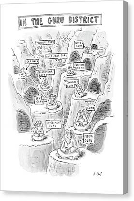 New Yorker March 10th, 2008 Canvas Print by Roz Chast