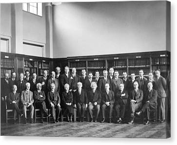 6th Solvay Conference On Physics, 1930 Canvas Print